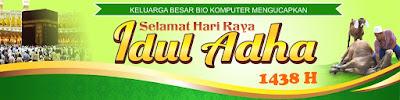 Download Desain Spanduk Ucapan Hari Raya Idul Adha 1438 H / 2017 M Format CDR Vektor