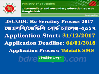 JSC/JDC Result  Rescrutiny Application Process 2017