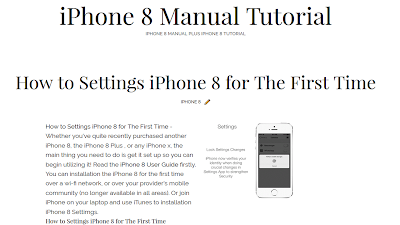iPhone 8 Manual PDF | iPhone 8 Guide Online