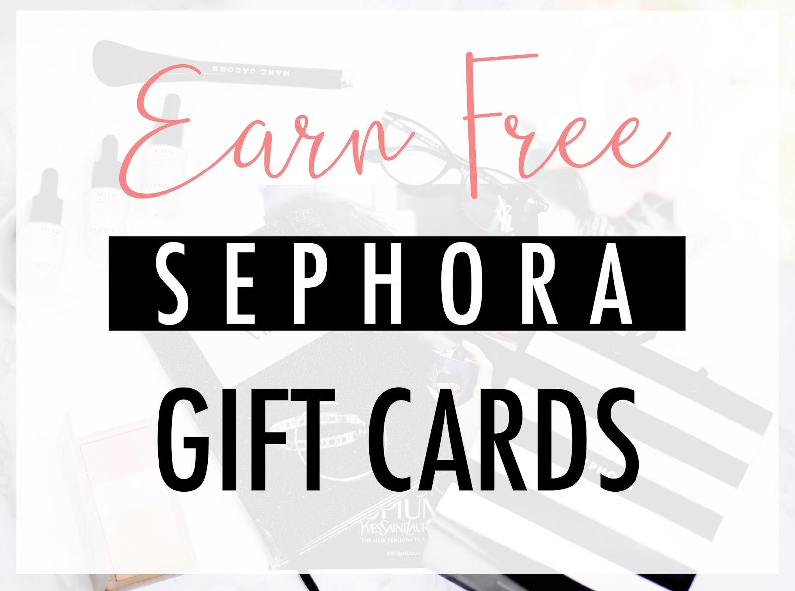 Claim Free Sephora GIft Cards