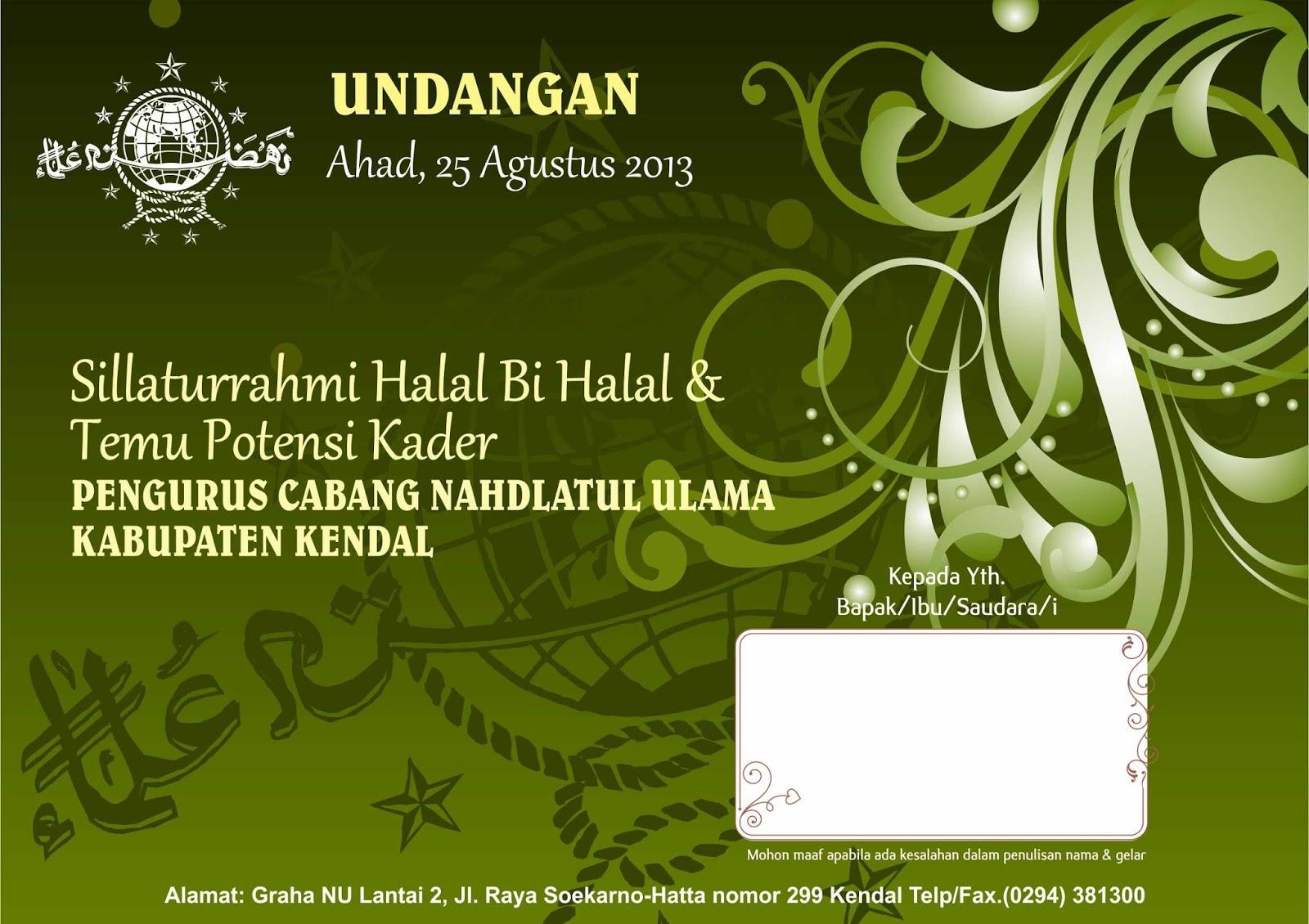Undangan Halal Bi Halal Dan Temu Potensi Kader Warna Printindo