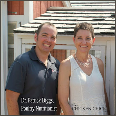 Dr. Patrick Biggs, animal nutritionist at Purina Animal Nutrition and Kathy Shea Mormino, The Chicken Chick®