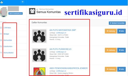 Sertifikasiguru.id Situs Resmi Sertifikasi Guru Kemdikbud Dirjen GTK menyajikan Tempat Belajar Peserta PLPG Sertifikasi Guru 2016 Rasa Facebook