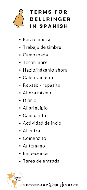 How-to-say-bellringer-in-Spanish