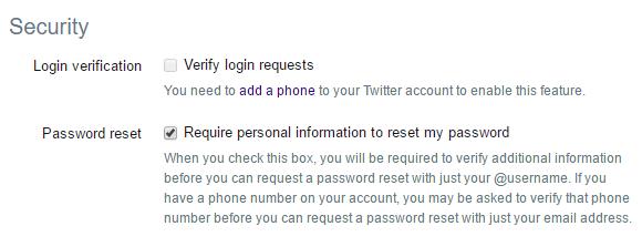 تويتر الآن تدعم ميزة التحقق بخطوتين