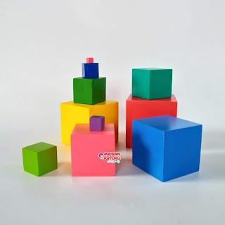 Rainbow Tower Mainan Kayuku