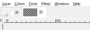Menu bar untuk beberapa dokumen GIMP