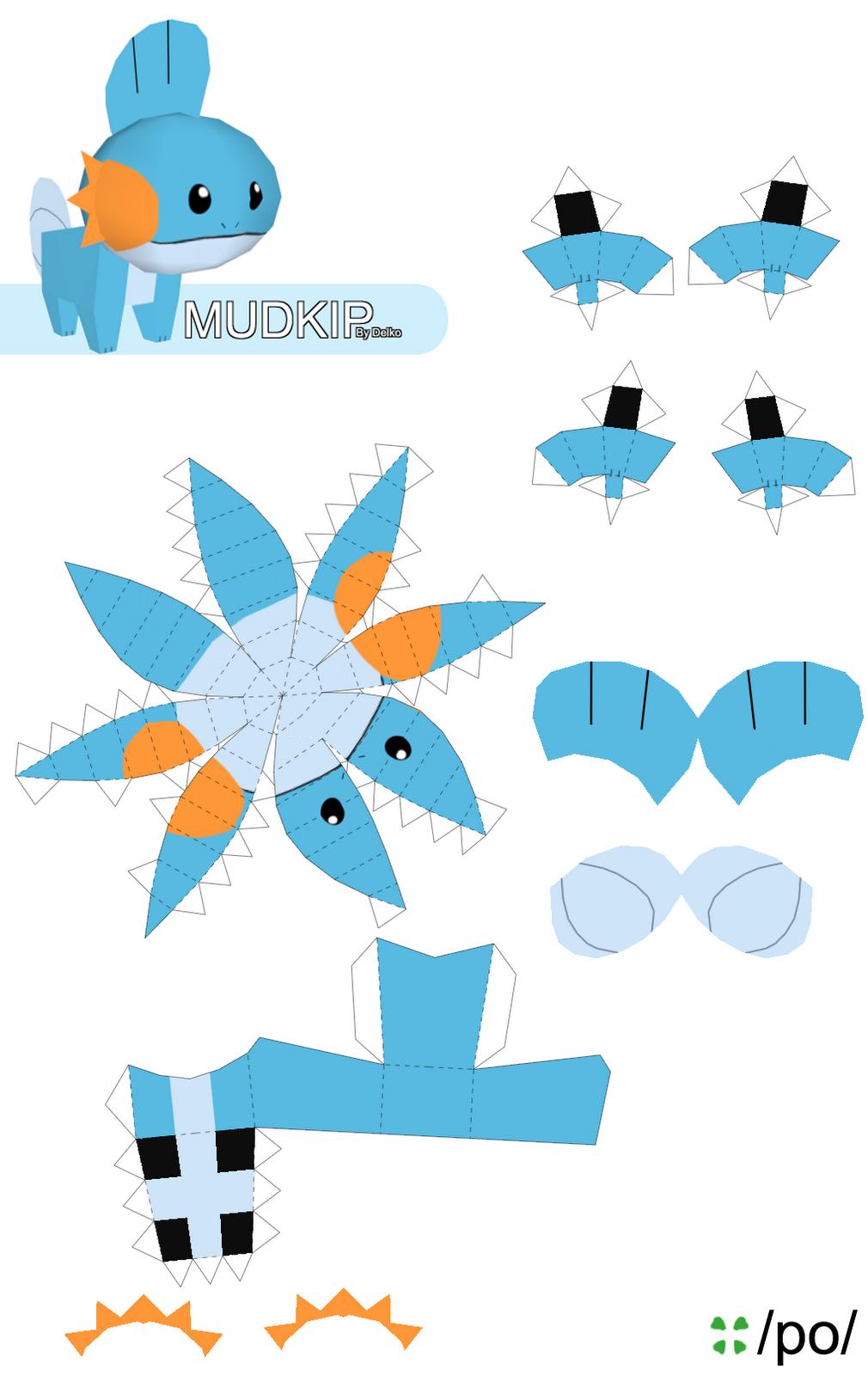 Papercraft Instructions Mudkip Web Wanderers