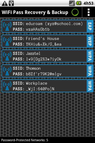 تطبيق WIFI PASS RECOVERY لاسترجاع باسوورد الويفي المخزن | روت