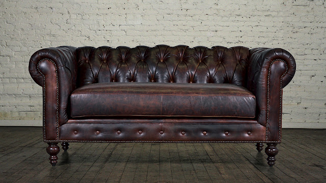 chesterfield loveseat tufted