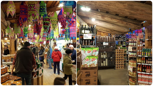 The interior of Coombs market on Vancouver Island...