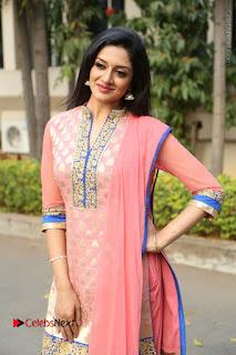 Actress Vimala Raman Stills in Beautiful Pink Salwar Kameez at (ONV) Om Namo Venkatesaya Press Meet  0150.JPG