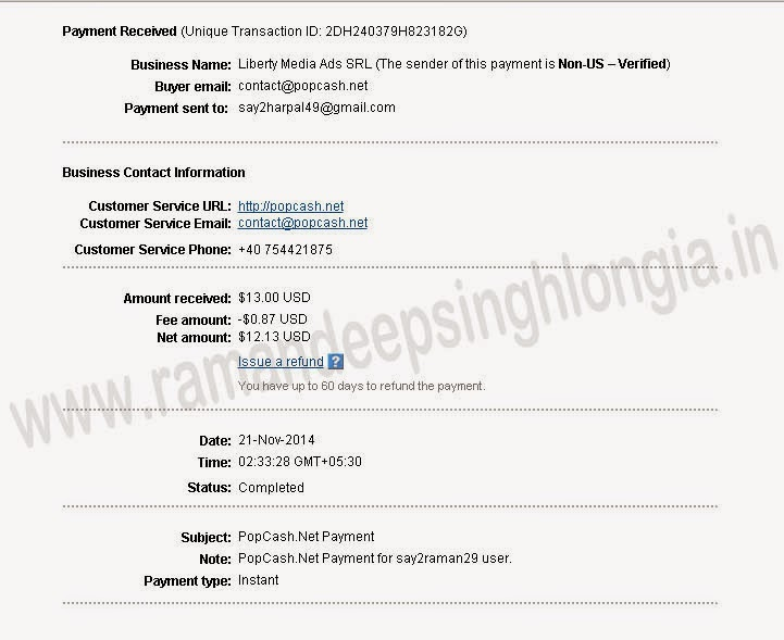 Popcash.net payment proof