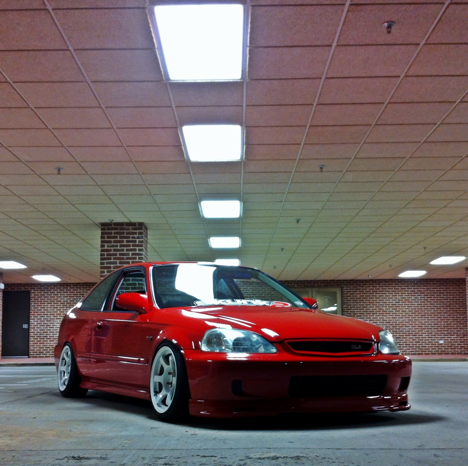 1999 Honda Civic Coupe Stanced Hellaflush