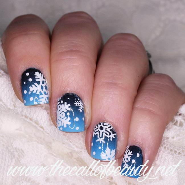 Nail Art: Snowy Night