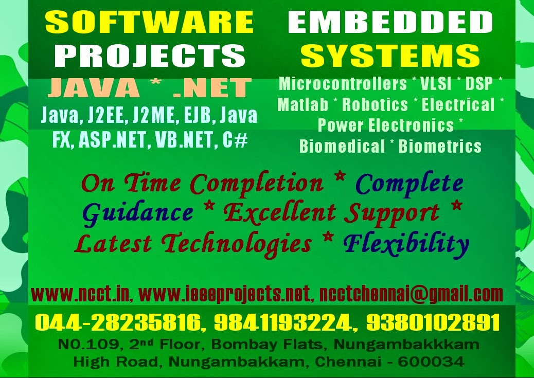 NCCT - PROJECT IMAGE GALLERY: BE Btech Projects, BE Btech Final Year