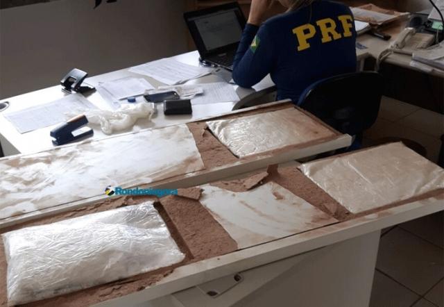 PRF prende jovem guajaramirense transportando 4 Kg de cocaína em ônibus com destino à Goiânia