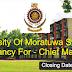 University Of Moratuwa Sri Lanka  Vacancy For - Chief Marshal