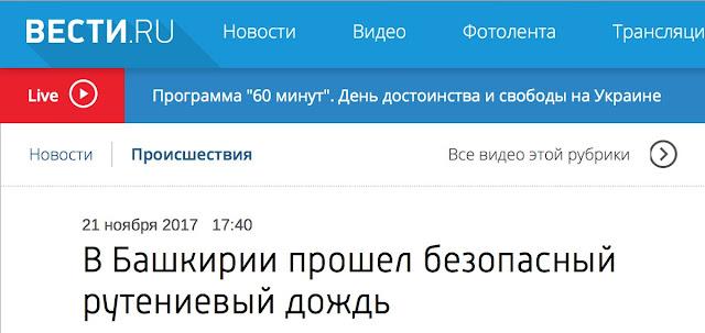 Радиоактивный дождь в Башкирии