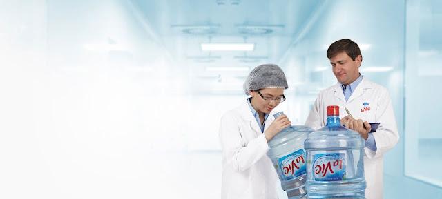 Nước khoáng LaVie - Cam kết chất lượng