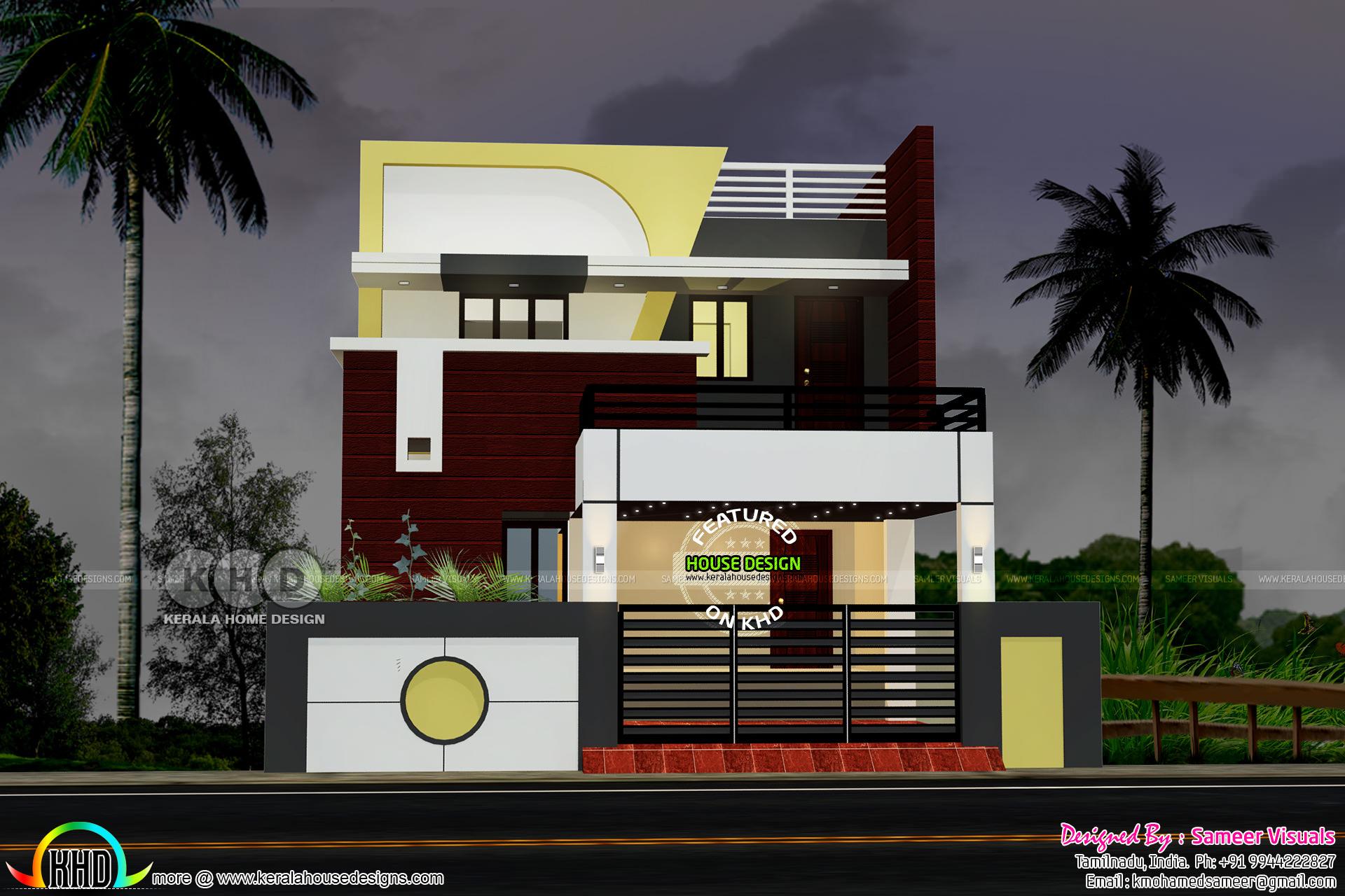 2460 Sq Ft 4 Bedroom Modern South Indian Home Kerala Home Design