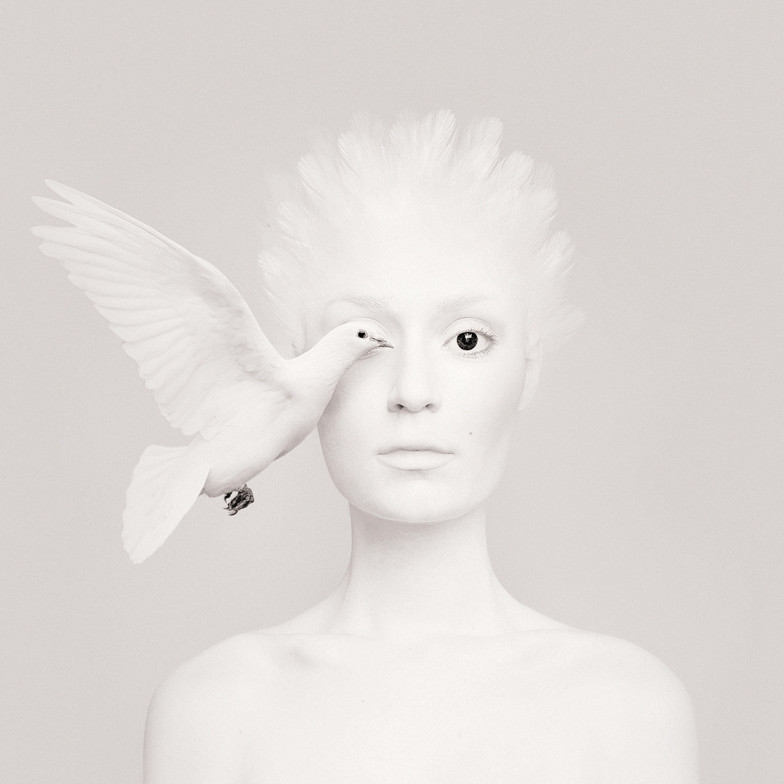 03-White-Dove-Flora-Borsi-Animeyed-Self-Portraits-Surreal-Photographs-www-designstack-co