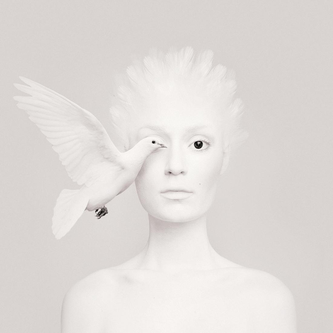 03-White-Dove-Flora-Borsi-Animeyed-Self-Portraits-Surreal-Photographs-www-designstack-co