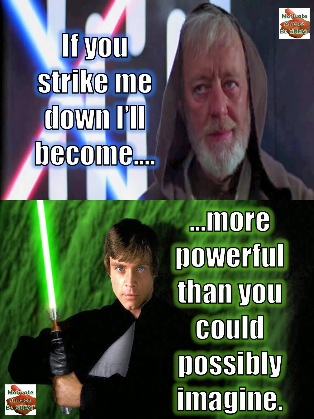 When Life Knocks You Down Star Wars Lesson Motivate Amaze Be