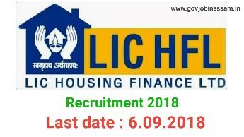 LIC Housing Finance Limited Recruitment 2018,govjobinassam