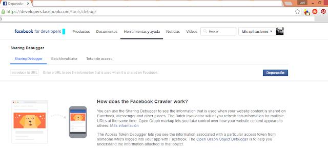 Publicar la imagen correcta y la descripción de mi entrada al compartir enlaces en Facebook