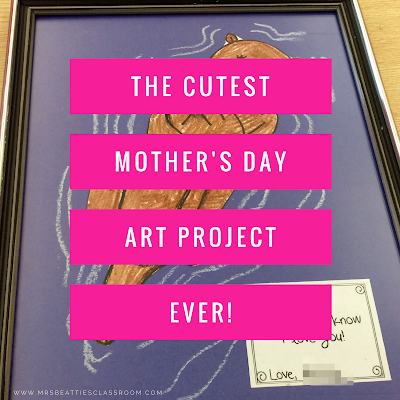 Looking for an easy Mother's Day gift? This directed drawing is perfect for school or home! Check out the details and grab a free gift tag!