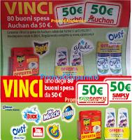 Logo Vinci 80 buoni spesa Auchan e 80 buoni spesa Simply