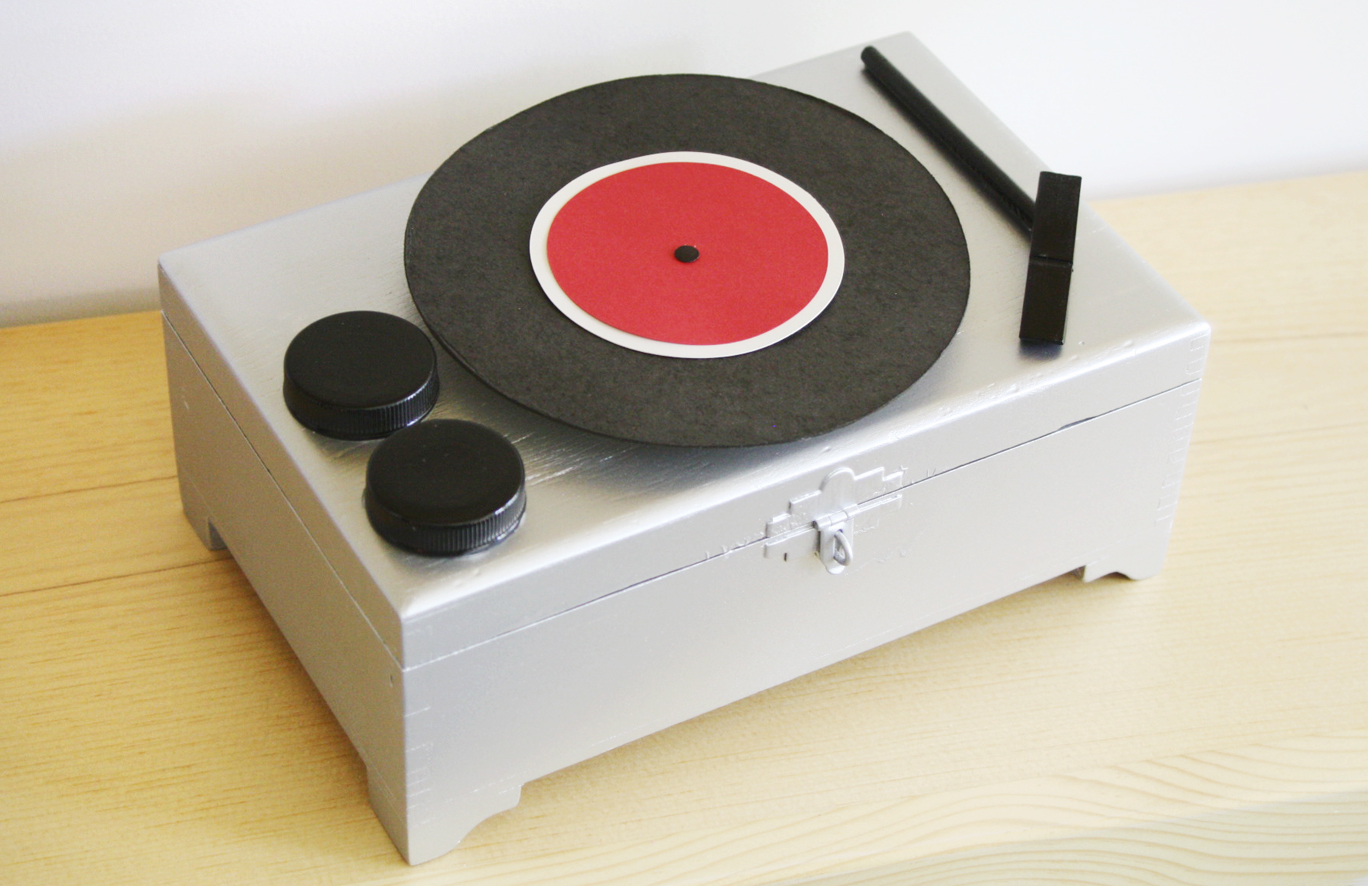 Please Note Diy Record Player Jewelry Box