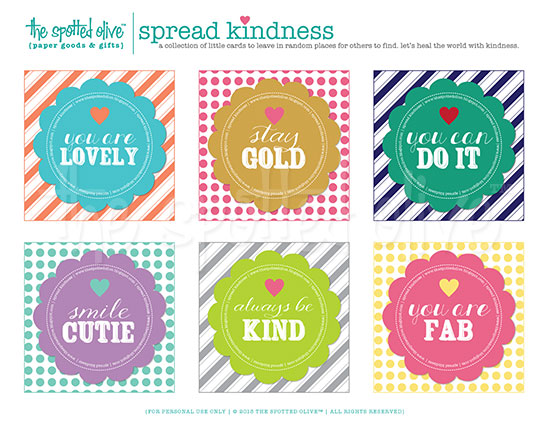 """photograph regarding Kindness Cards Printable titled the lifetime and options of the noticed oliveâ""""¢: kindness playing cards"""