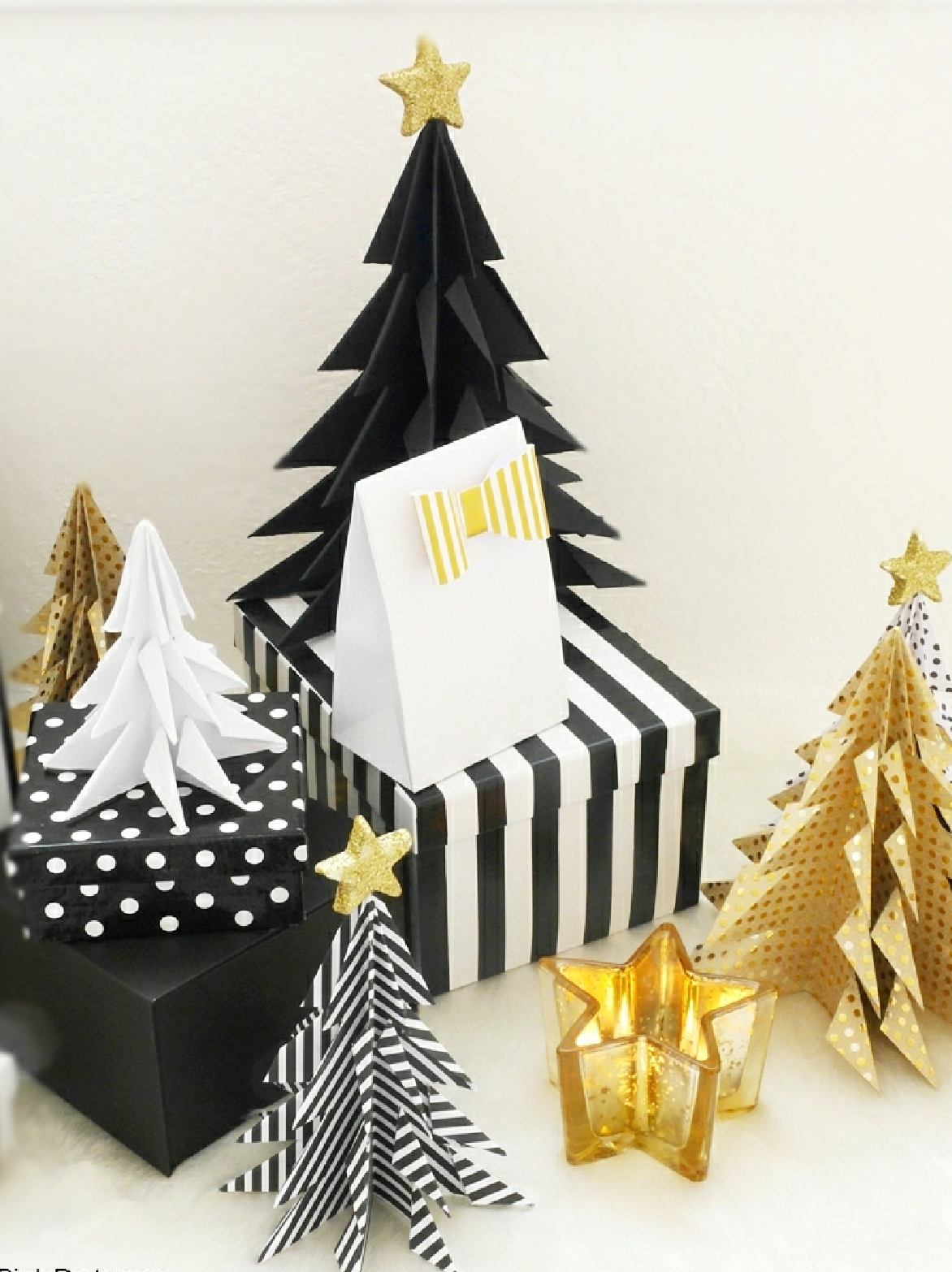 DIY Origami Christmas Trees