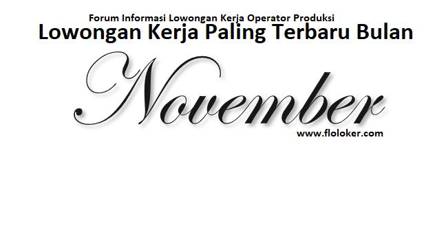 Flokloker Forum Informasi Lowongan Kerja November