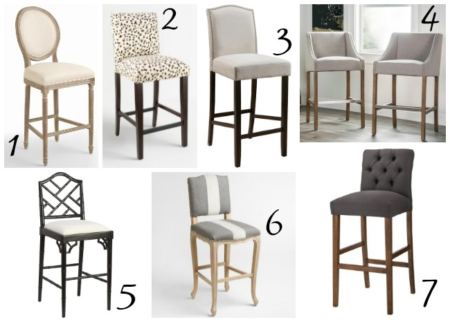 bar stools, upholstered stools