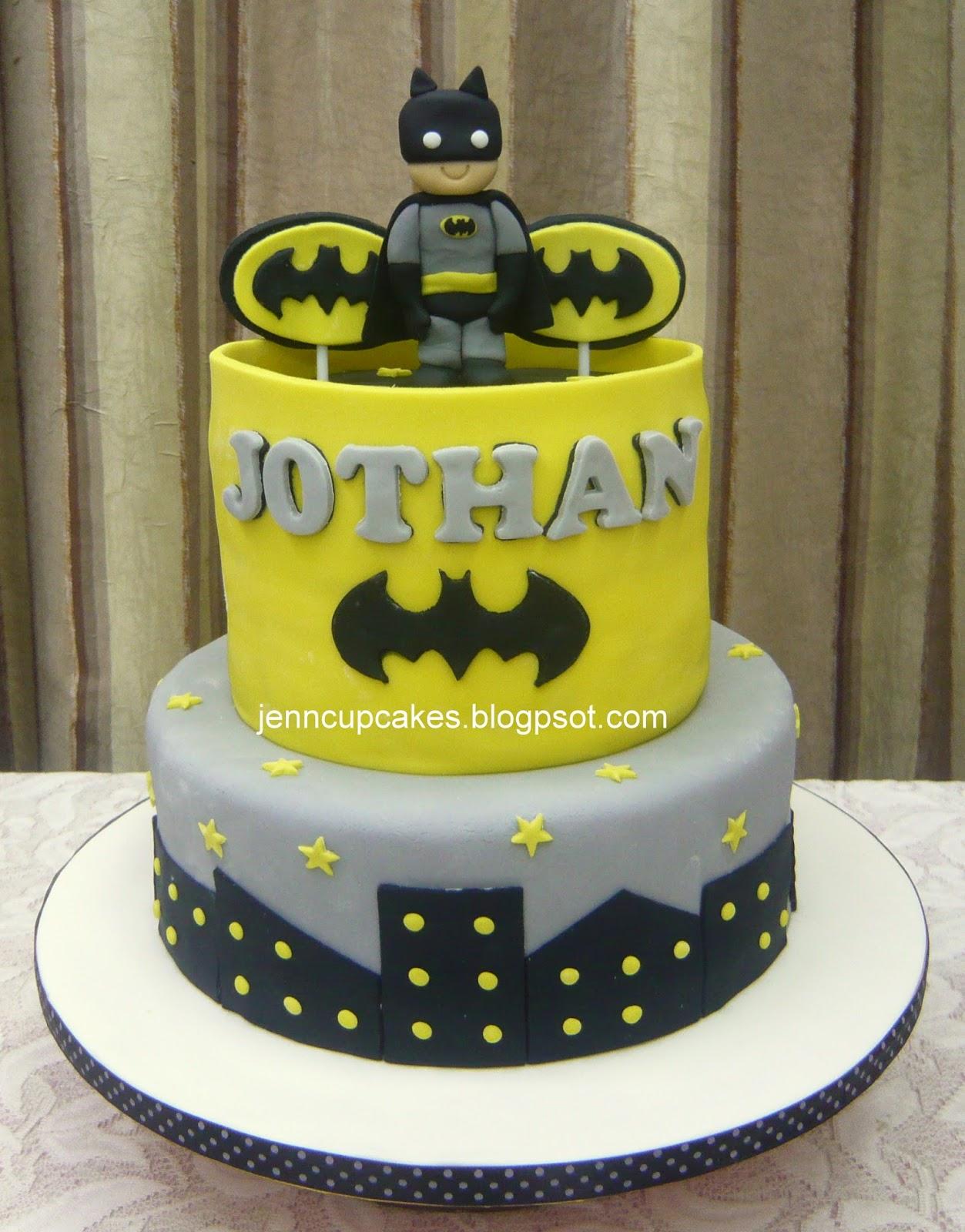Jenn Cupcakes & Muffins: Batman Theme Cake