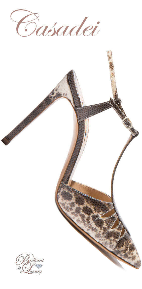 Brilliant Luxury ♦ Casadei T-Bar Sandals