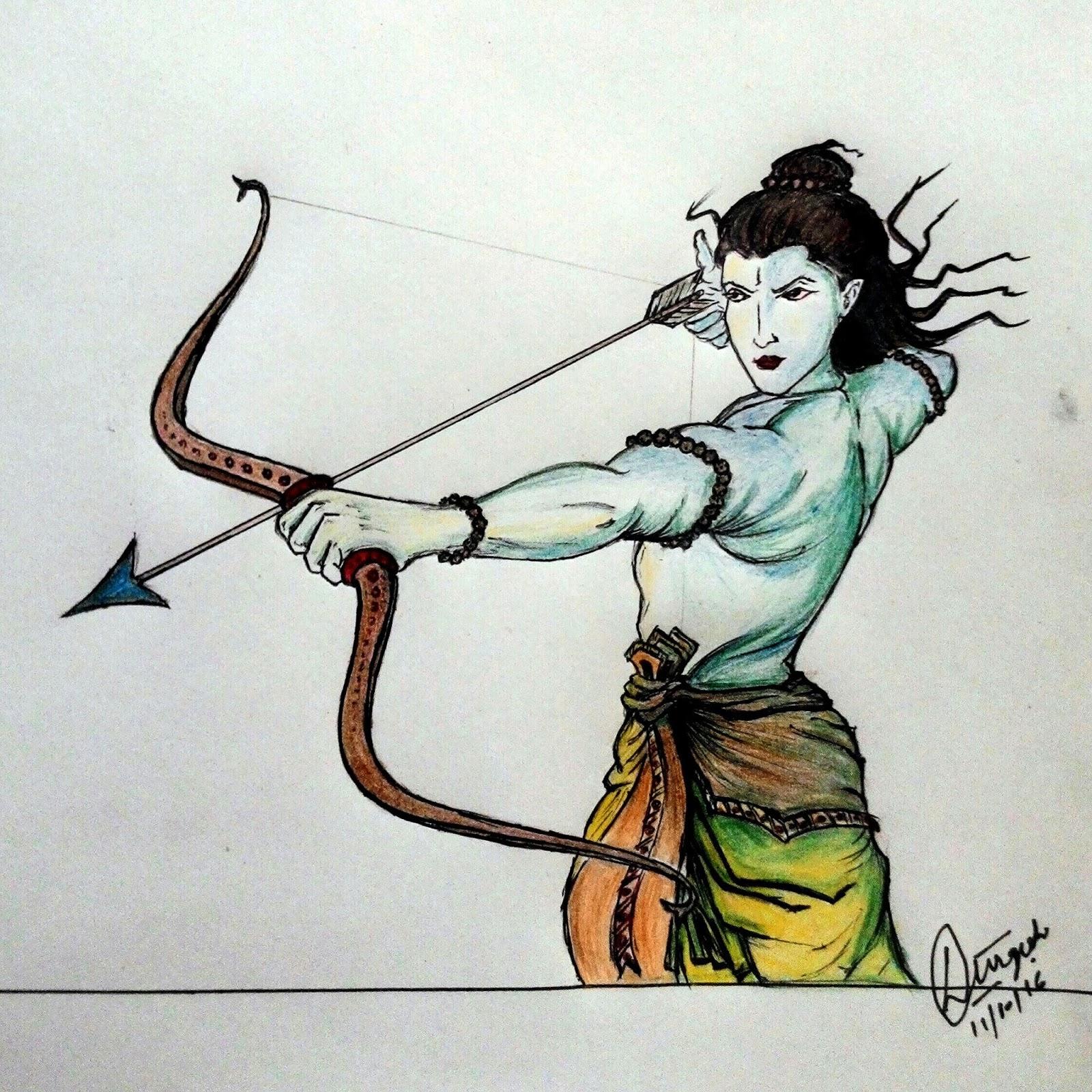Dc Arts Gallery Sketch Of Lord Shri Ram