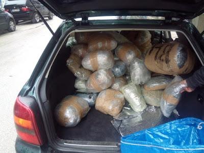 Συνελήφθη 40χρονος με πάνω από 200 κιλά κάνναβης (+ΦΩΤΟ)