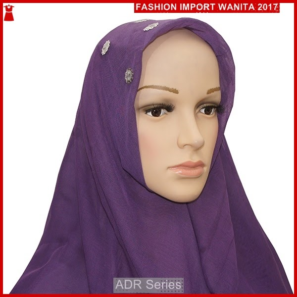 ADR159 Kerudung Wanita Ungu Jilbab PY2 Import BMG