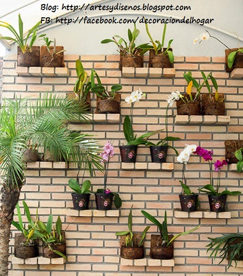 Ideas para Decorar un Jardín Vertical by artesydisenos.blogspot.com