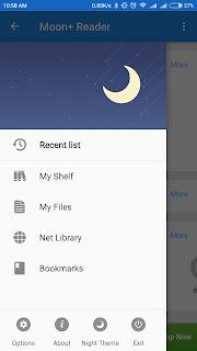 Moon reader Aplikasi Pembaca Ebook di Android Terbaik 2018