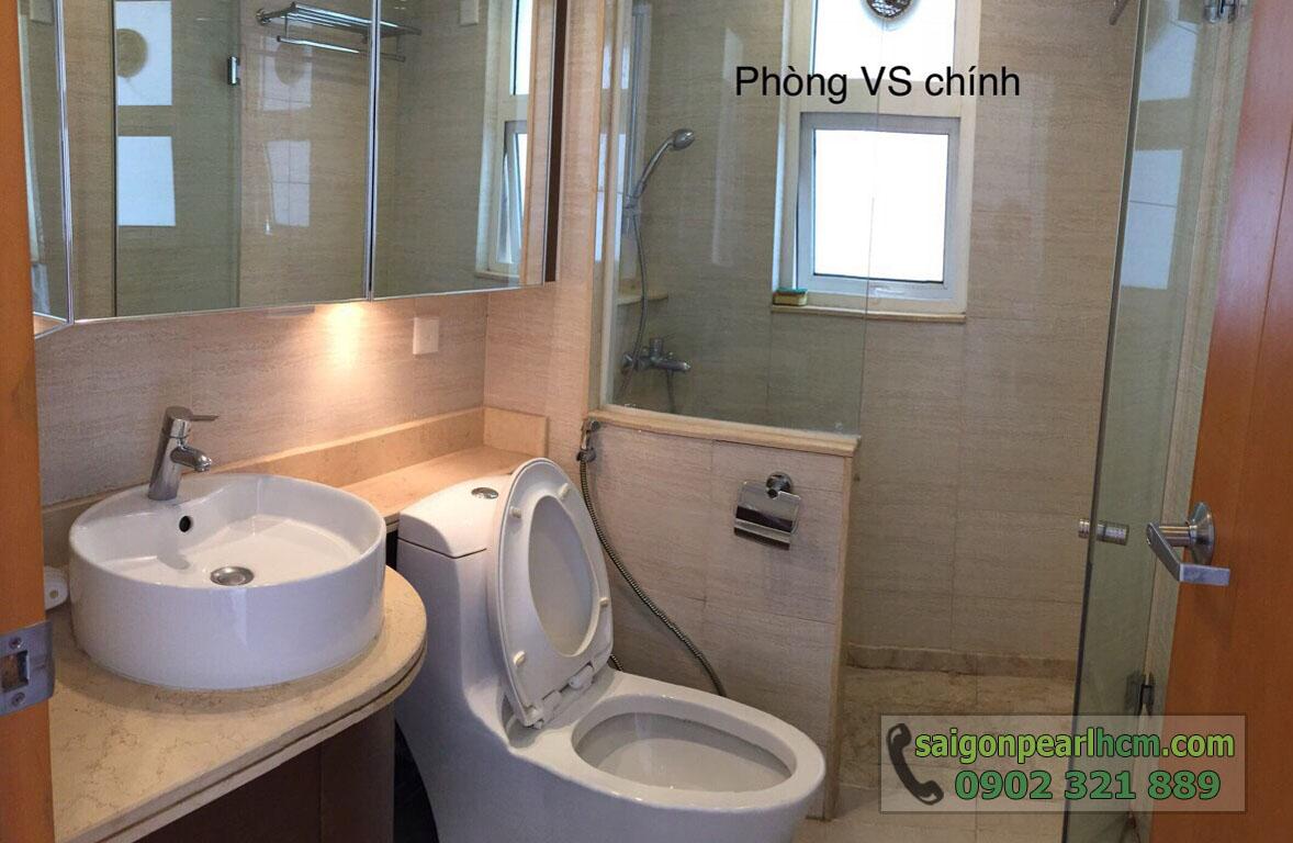 Saigon Pearl Bình Thạnh cho thuê căn hộ 2 phòng ngủ - phòng vệ sinh chính
