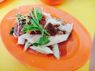 Roast Chicken Rice set for RM4.50