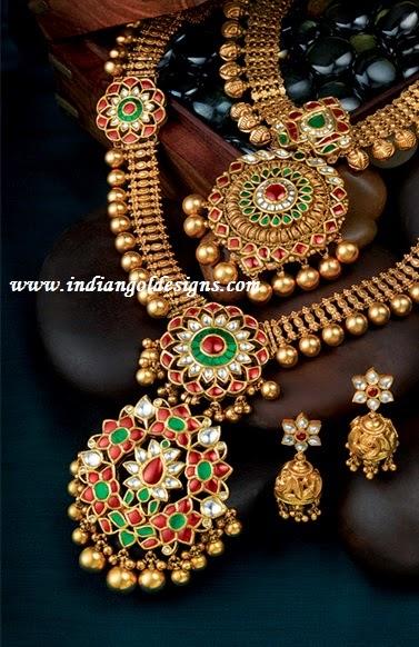 Gold and Diamond jewellery designs Antique jewellery designs