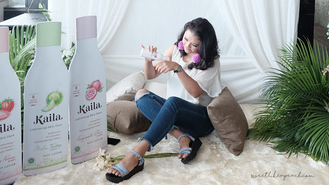 review skincare lokal halal memutihkan kulit - kaila lightening skincare body lotion