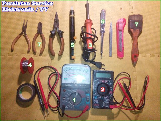 Gambar Peralatan untuk Service Elektronik, Televisi, Radio dan Elektronik lainnya