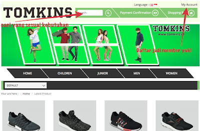 Tampilan Website TOMKINS Indonesia